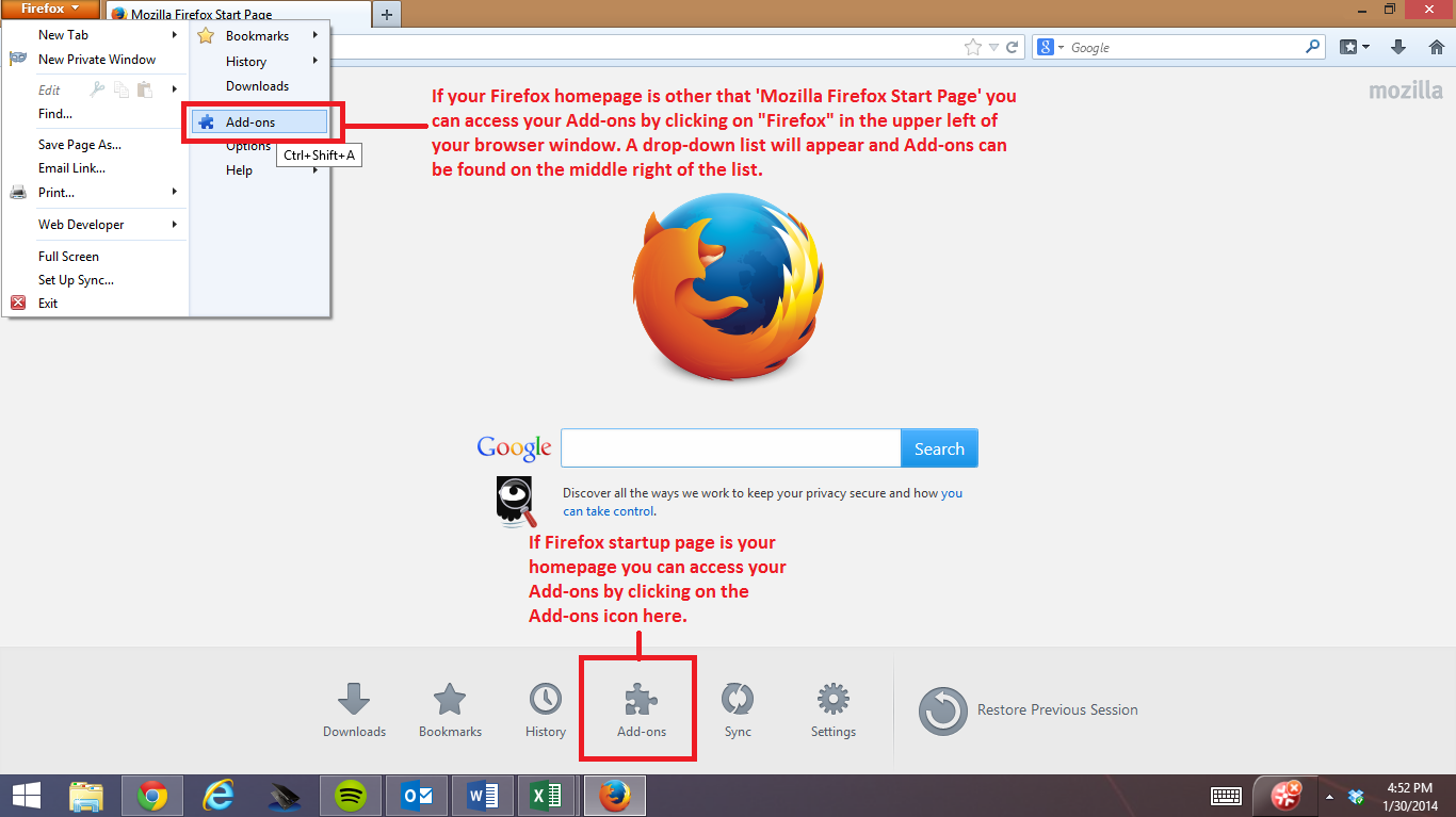 Below are the steps to follow to Activate Silverlight in Firefox on Windows  8 OS.